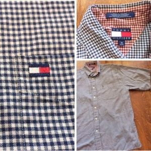 Vintage Tommy Hilfiger Men's M Button Up Shirt